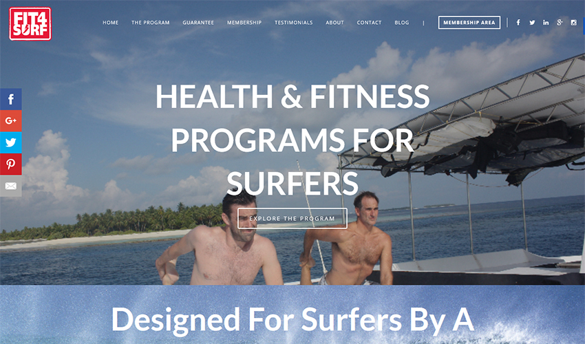 fit4surf - web design sunshine coast - web developer tewantin