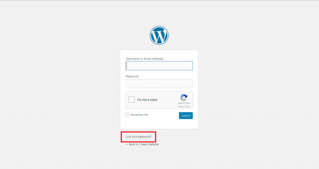 lost wordpress password - how to reset the wordpress password